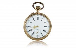 Gold pocket watch   8K gold chronometer ...
