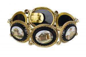 Miniature mosaic yellow gold bracelet   ...