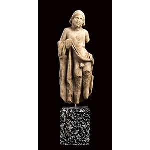 HELLENISTIC MARBLE GROTTESQUE FIGURE 2nd - ...