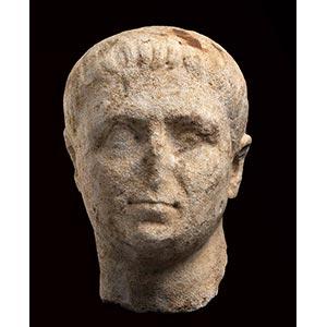 MONUMENTAL ROMAN MARBLE PORTRAIT OF A MAN ...