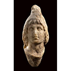 AMAZING ROMAN MARBLE HEAD OF MITHRAS 2nd - ...