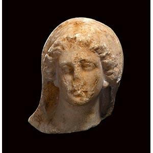 ROMAN MARBLE PORTRAIT OF A VEILED WOMAN 1st ...