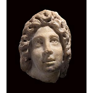 ROMAN MARBLE HEAD OF A YOUNG MAN 3rd century ...