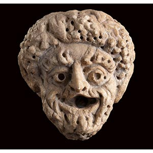 ROMAN MARBLE HEAD OF A SATYR 3rd century AD ...