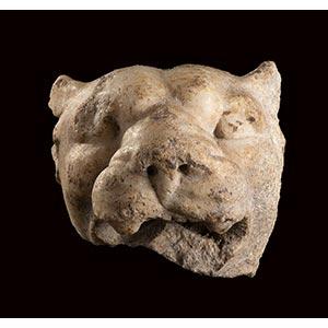 ROMAN MARBLE PANTHER HEAD 1st century BC - ...