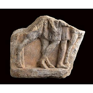 ROMAN MARBLE SLAB WITH AN HORSE RIDER 1st - ...