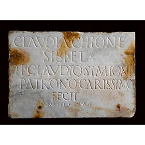 ROMAN MARBLE GRAVESTONE OF CLAUDIA CHIONE ...