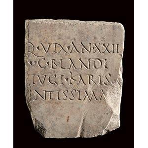 ROMAN MARBLE GRAVESTONE 3rd century AD ...