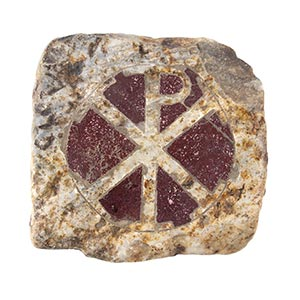 PALEOCHRISTIAN MARBLE INLAY TILE 5th - 6th ...