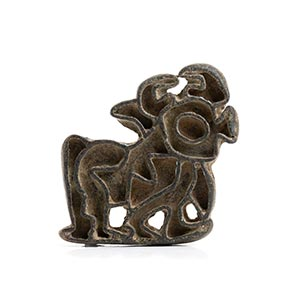 BACTRIAN BRONZE STAMP SEAL WITH BULL Central ...