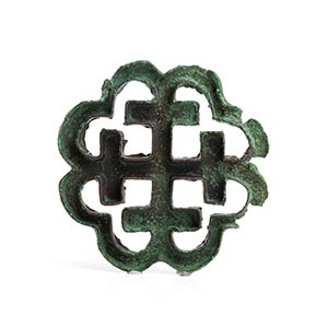 BACTRIAN BRONZE STAMP SEAL WITH CRUCIFORM ...