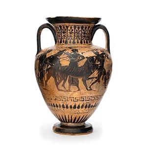 ATTIC BLACK-FIGURE AMPHORA ca. 525 - 500 BC ...