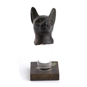 EGYPTIAN BRONZE CAT HEAD OF BASTET Late ...