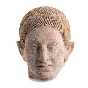 ETRUSCAN TERRACOTTA HEAD OF A YOUNG MAN 5th ...