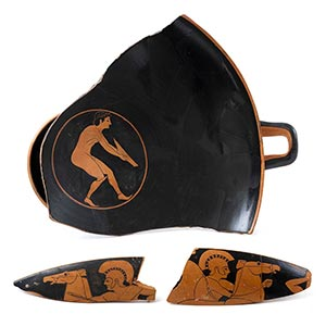 ATTIC RED-FIGURE KYLIX FRAGMENTS Attributed ...