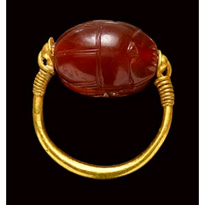 An etruscan carnelian scarab ...