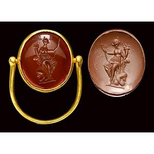 A rare roman-hellenistic carnelian intaglio, ...