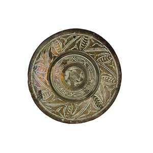 Plate  Large plate with wide brim, hollow ...