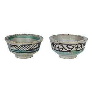 Two Bowls  Two bowls with flat brim, wall ...