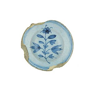 Saucer  Saucer with brim and wide cavetto. ...