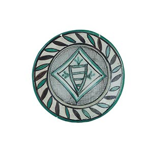 Plate  Plate with convergent brim, carinated ...