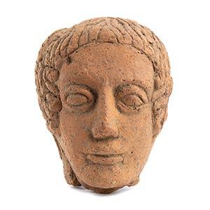 Etruscan large terracotta votive portrait of ...