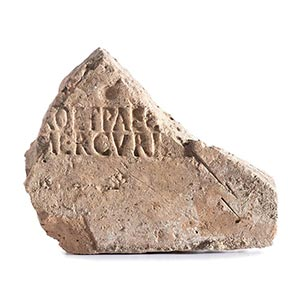 Roman brick stamp, 1st century AD; length ...