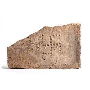 Roman brick stamp with swastika, 3rd century ...
