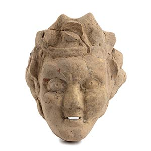 Hellenistic terracotta mask of youthful ...