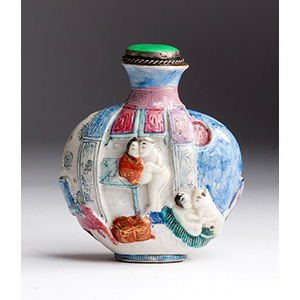 Painted erotic subject Porcelain snuff ...