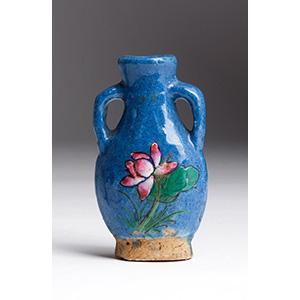 Painted ceramic snuff bottle; XX Century  ; ...
