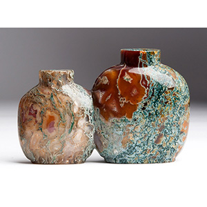 Double coloured glass snuff bottle; XX ...