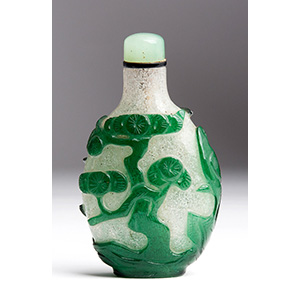 Overlay glass snuff bottle; XX Century; ...