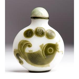 Overlay glass snuff bottle; XX Century; 7,2 ...