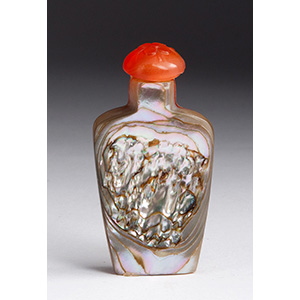 Mother of pearl snuff bottle; XX Century; ...
