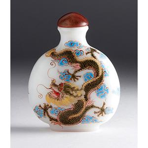 Painted glass snuff bottle; XX Century; 7,8 ...