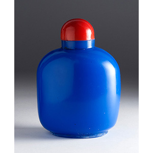 Painted glass snuff bottle; XX Century; 9 ...
