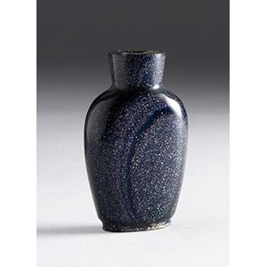 Glass snuff bottle; XX Century; 4,2 cm;