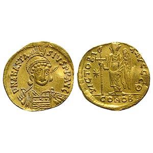 Anastasius I (491-518). AV Solidus (19mm, ...