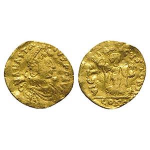 Anastasius I (491-518). AV Tremissis (13mm, ...
