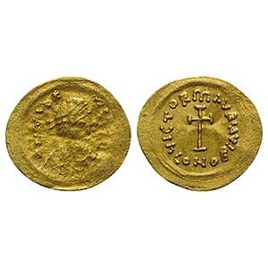 Maurice Tiberius (582-602). AV Tremissis ...