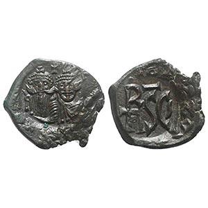 Heraclius (610-641). Æ 40 Nummi (26mm, ...
