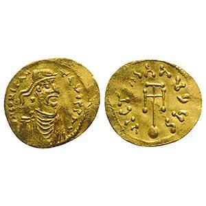 Constans II (641-668). AV Semissis (18.5mm, ...