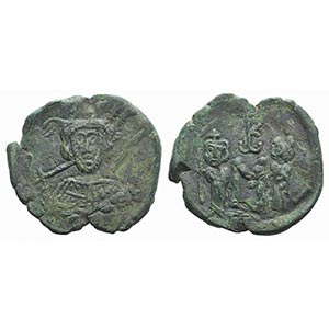 Constantine IV (668-685). Æ 40 Nummi (25mm, ...
