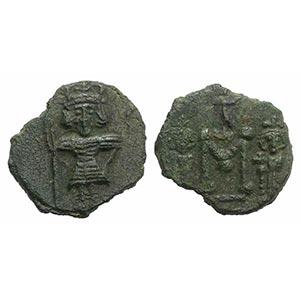 Constantine IV (668-685). Æ 40 Nummi (19mm, ...