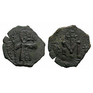 Tiberius III (698-705). Æ 40 Nummi (22mm, ...