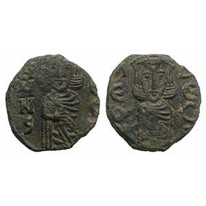 Constantine V and Leo IV (741-775). Æ 40 ...
