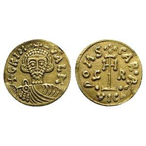 Lombards, Beneventum. Grimoald III with ...