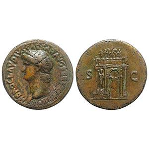 Nero (54-68). Fake Æ Sestertius (34mm, ...