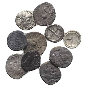 Sicily, lot of 10 AR Greek Fractions, to be ...